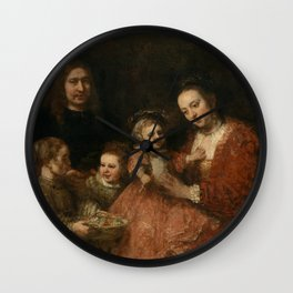 Portrait of a Family Wall Clock