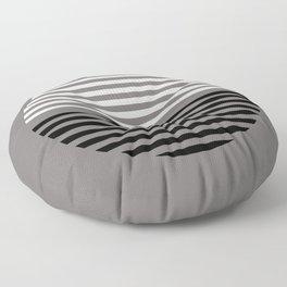 Horizons Geometric Design 17 in Taupe Black & White Floor Pillow