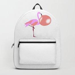 Bubble Gum Flamingo Blowing Bubble Backpack