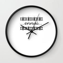 Ennui Wall Clock