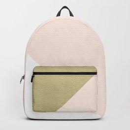 Gold meets Blush & White Geometric #1 #minimal #decor #art #society6 Backpack