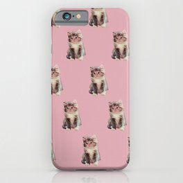 HOMEMADE PINK KITTY PATTERN iPhone Case
