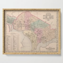 Vintage Map of Washington DC (1857) Serving Tray