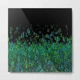 Binary Cloud Metal Print