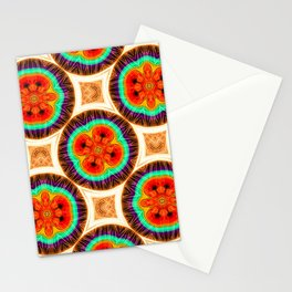 Geometric pattern with repetitive. Abstract circular shapes. Stationery Cards