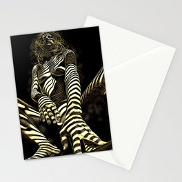 2669s-AK Crouching Nude Woman Technology by Chris Maher Stationery Cards