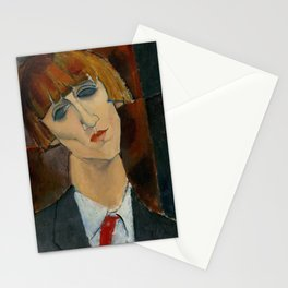 Madame Kisling by Amedeo Modigliani Stationery Cards