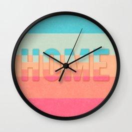 word home horizon Wall Clock