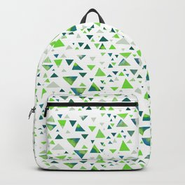 Hypnotic Green Triangles Backpack