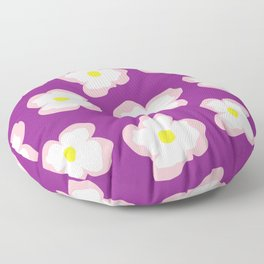 Evening Primrose on Purple Floor Pillow