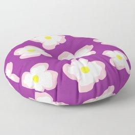 Evening Primrose on Purple Floor Pillow