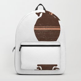 Greek Pottery 29 - Clay Vases - Terracotta Series - Modern, Contemporary, Minimal Abstract - Auburn Backpack