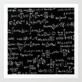 Math Equations // Black Art Print
