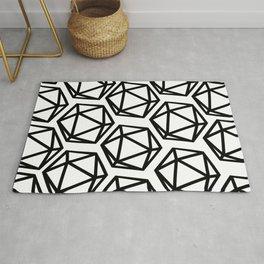 D20 Pattern Large Rug