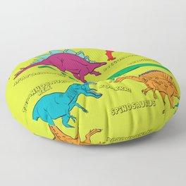 Dinosaur Print - Colors Floor Pillow