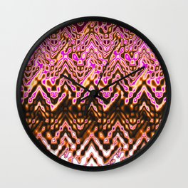 1000 Little Islands (ochre-pink) Wall Clock