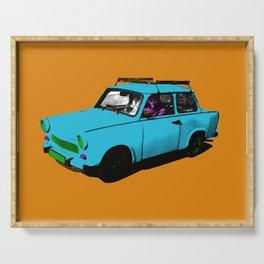 Trabant blue pop Serving Tray