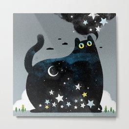 Night Cat Metal Print