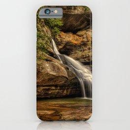 USA Cedar Falls Hocking Hills State Park Crag Nature Waterfalls Rock Cliff iPhone Case