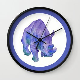 Northern White Rhinoceros Wall Clock
