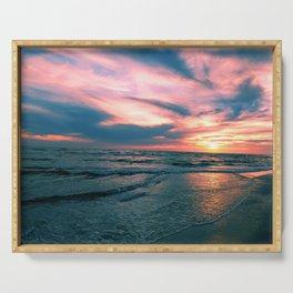 Beach Sunset Serving Tray