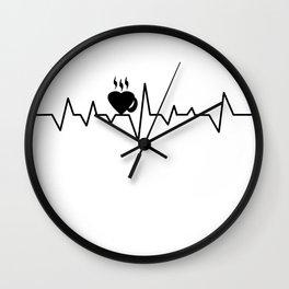 coffee T-shirt Wall Clock