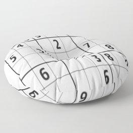 Sudoku Series: Hard Level - Mono Floor Pillow