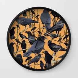 Crow   Corvidae Wall Clock