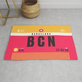 Baggage Tag A - BCN Barcelona El Prat Spain Rug
