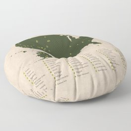 US National Parks Floor Pillow