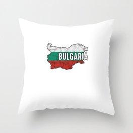 Bulgaria Patriotic Bulgarian Flag Map Symbol Nationalism Patriosm Throw Pillow