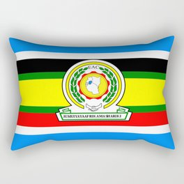 flag of East African Community or EAC Rectangular Pillow