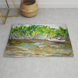 Florida Mangrove Tea Water in the Everglades Rug