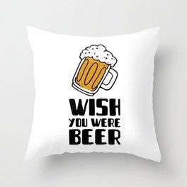 beer themed with a fun pun Throw Pillow