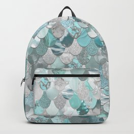 Mermaid Aqua and Grey Backpack