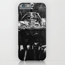 Six Skeletons Smoking iPhone Case
