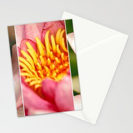 Water lily trio Stationery Cards