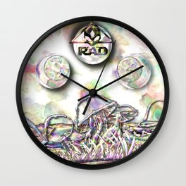 Pearl Lake Mushrooms Wall Clock