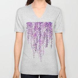 purple wisteria in bloom Unisex V-Neck