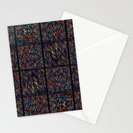 total psychedelic mess pattern Stationery Cards