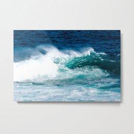 'The Wild Sea' Ocean Photography Metal Print
