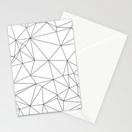 Black and White Geometric Minimalist Pattern Stationery Cards