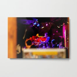 Singer playing the Flute, A Metal Print