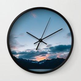 Alaskan Mountain Dawn II Wall Clock