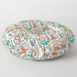 Austin Icons Floor Pillow