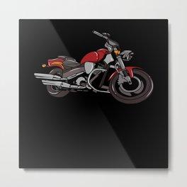 Motorcycle Biker Motorcyclist Gift Metal Print