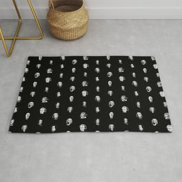 Classical Music Composers Pattern Rug