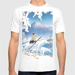 Mononoke and the wolves vintage japanese mashup T-shirt