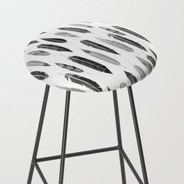 Feathers Black and White Bar Stool