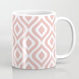 Mid Century Modern Diamond Ogee Pattern 131 Dusty Rose Coffee Mug